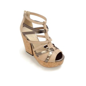 Jimmy Choo Metallic Strappy Marble Mix Wedges