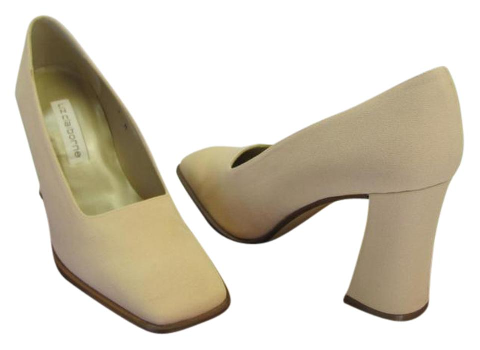 b7eddfd3e57 Liz Claiborne Neutral M Padded Footbed Bonded Leather Sole Very Good  Condition Pumps. Size  US ...