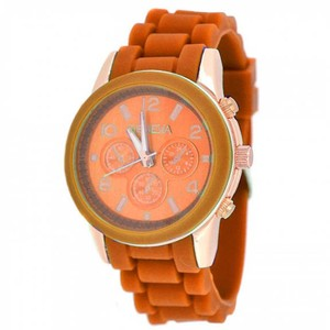 Geneva Classic Snap-Down Round Face Cuff Watch