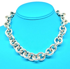 Tiffany & Co. Rare Extra Large Tiffany Round Link Neckchain Over 7 1/2 Ounces!!!