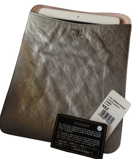 Preload https://item1.tradesy.com/images/chanel-silver-and-pink-ipad-sleeve-2080215-0-0.jpg?width=440&height=440