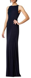 Badgley Mischka Backless Gown Sleeveless Highneck Dress