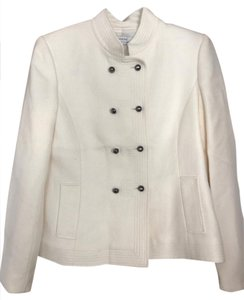 Tahari Tahari Arthur Levine Womens Creme Blazer Wool Jacket and Pants