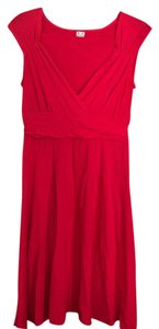 Three Dots short dress coral-red on Tradesy