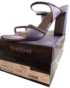 Bebe Charcoal Metallic Mules