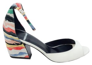 Pierre Hardy D'orsay Open Toe Rainbow Suede white / multi Sandals