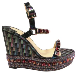 Christian Louboutin Cataclou Stellar Oil Slick black Wedges