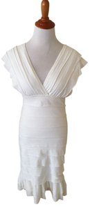 Max Studio short dress Ivory on Tradesy