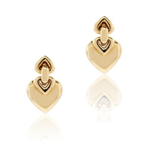 BVLGARI Bvlgari 18k Yellow Gold Heart Clip On Earrings