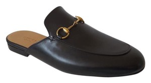 Gucci Princeton Leather Mules Black Flats