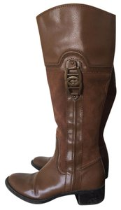 Etienne Aigner caramel brown suede Boots