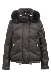 Burberry London Fur Hooded Quilted Down Fox Coat