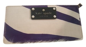 Kate Spade Purple and Creme Clutch