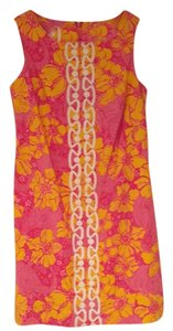 Lilly Pulitzer short dress Pink, Orange, and White Floral on Tradesy