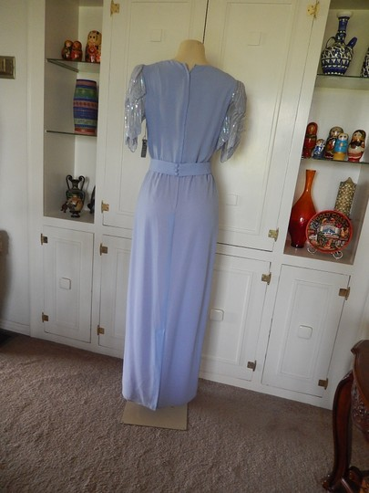 Miss Elliette Blue Unknown 1973 Formal Dress Size 10 (M)