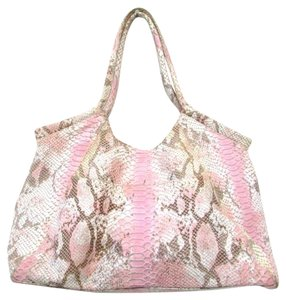 Helen Welsh Snake Print Snake Leather Hobo Bag