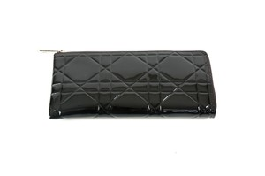 Dior Patent Leather Quilted Black Clutch