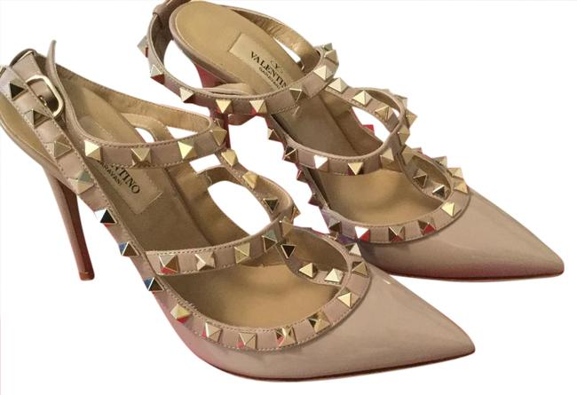 Item - Nude With Receipt Rockstud Pump In Poudure Formal Shoes Size US 6.5 Regular (M, B)