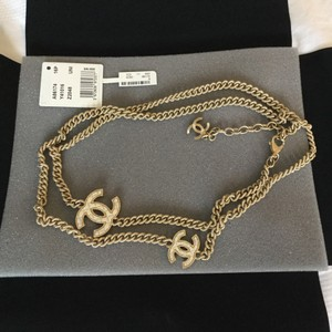 Chanel 2016 Chanel Long Double Strand Gold Necklace Brand New With Orig Box