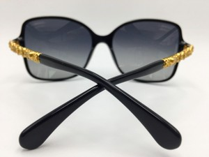 Chanel Gold Blooming Bijou Black Square Chanel Sunglasses 5355 c.622/S8