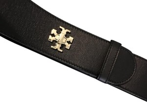 Tory Burch Tory Burch Leather Turnlock Logo Belt Small