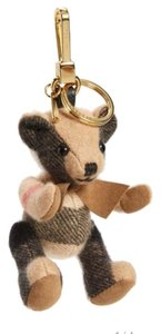 Burberry BURBERRY THOMAS BEAR CHECK CASHMERE BAG CHARM- CAMEL