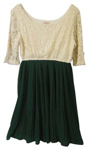 Freeway Apparel Lace Pleated Skirt Dress