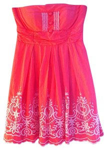 City Triangles short dress Coral on Tradesy