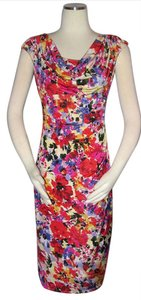Ralph Lauren Floral Size 6 Tropical Mock Wrap Dress