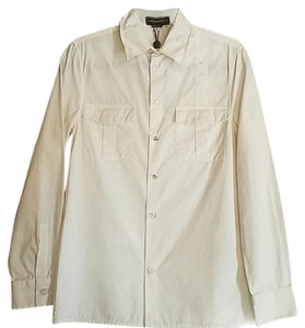 John Bartlett Italian Classic Mother Of Pearl Button Down Shirt White