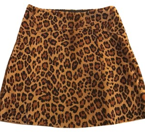 Vera Wang Lavender Label Mini Skirt Leopard