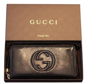 Gucci Gucci Black Patent Leather Wallet