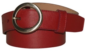 Talbots Talbots Rusty Red Leather Belt ITALY Small