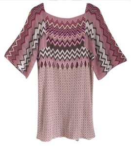 Missoni short dress pink multi on Tradesy