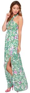 Multi-Colored (primarily greens and pinks) Maxi Dress by Lovers + Friends Maxi Resort