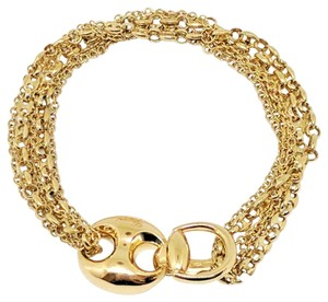 Gucci Gucci Horsebit Marina 18K Yellow Gold Multi-link Chain Bracelet