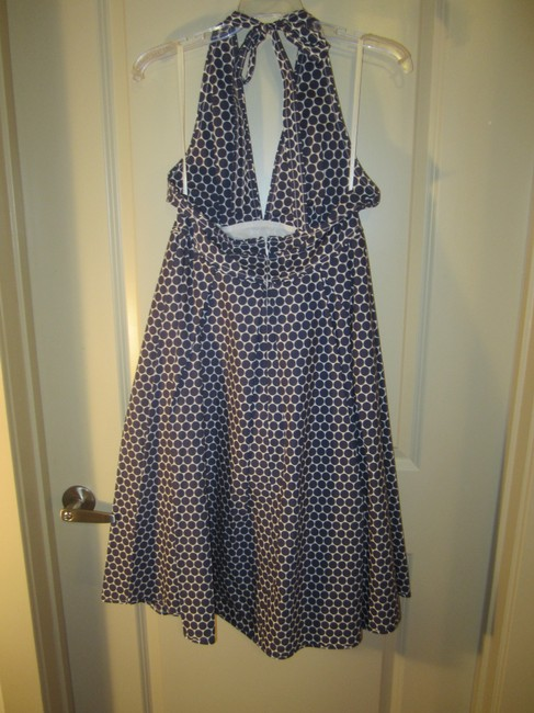 J.Crew short dress Blue and White Polka Dot on Tradesy Image 1