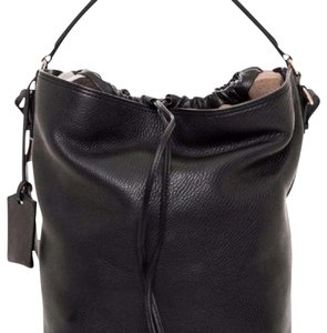 Burberry Pebbled Leather Shoulder Bag