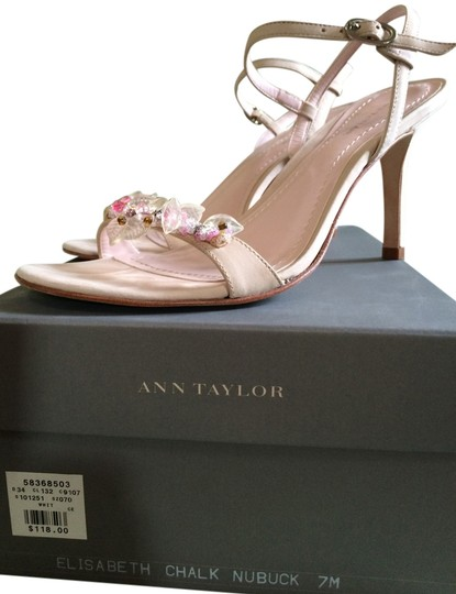 Ann Taylor Nude Pink w/Flower Accents Sandals