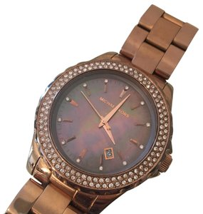 Michael Kors Mk watch rose gold mother of pearl dial
