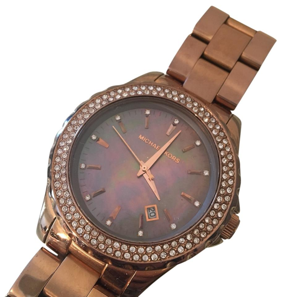 b26c011a29e2 Michael Kors Mk watch rose gold mother of pearl dial Image 0 ...