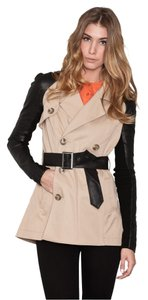 Veda Leather Trench Coat