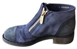 Chanel grey blue Boots