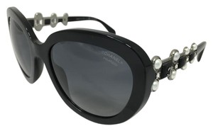 Chanel Black Polarized Bijou Chanel Sunglasses 5334-B-A c.501/S8 56