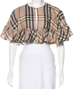 Burberry Checked Ruffled Shaw