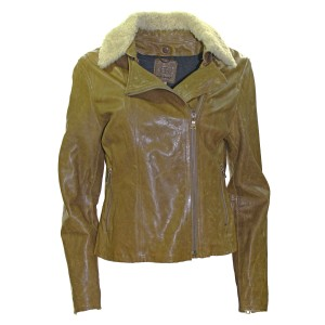 Banana Republic Leather Distressed Pre-owned Brown Leather Jacket