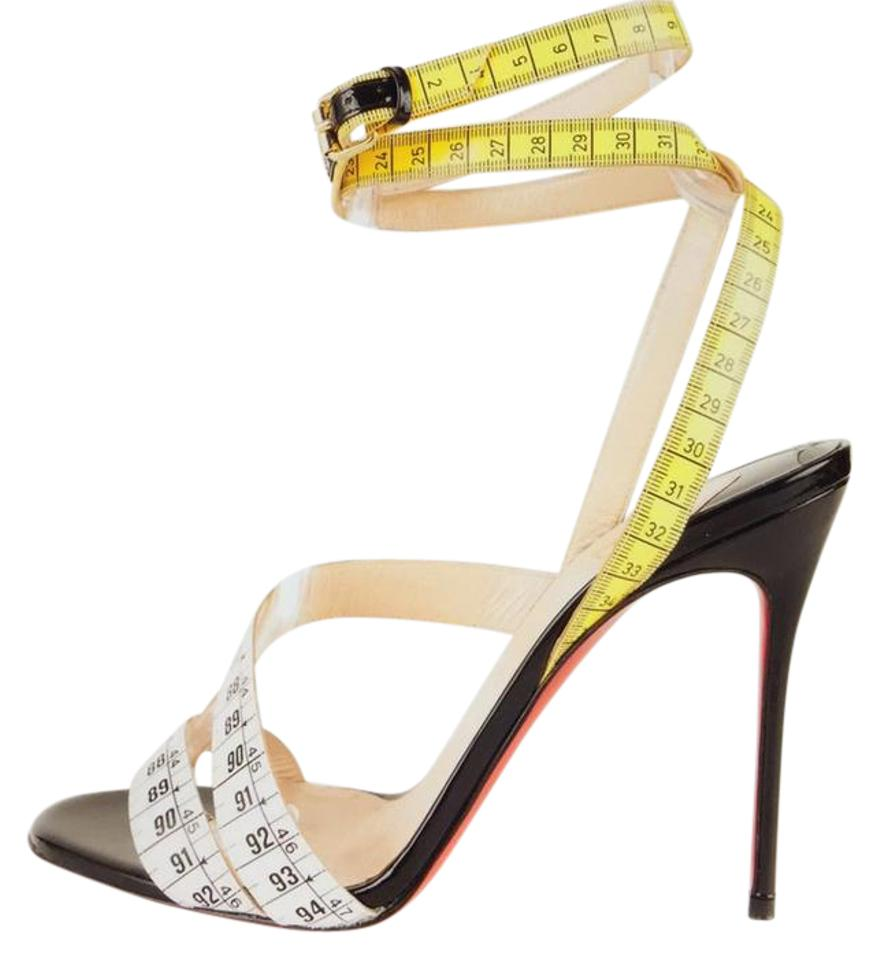 64c46c0c53a3 Christian Louboutin Measuring Tape Ankle Strap Sandals Size US 8.5 ...