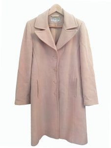 Larry Levine Pink Wool Spring Pea Coat