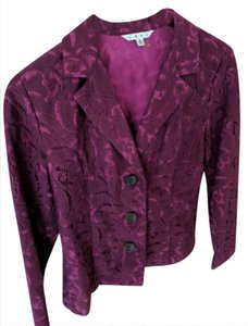 CAbi Cabi Flolic Jacket in Plumberry Lace
