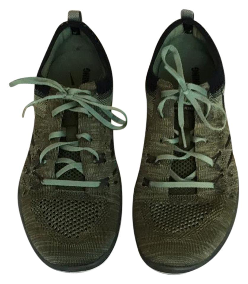 Nike Olive Green Free Tr Sneakers Focus Flyknit Training Sneakers Tr 295675